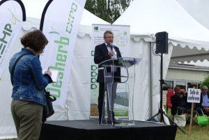 M. Dhennin lors du discours inaugural de Désherb'Expo